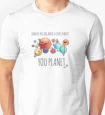 How to organize a space party? v2 Slim Fit T-Shirt