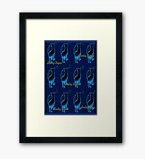 HOWLING DINGOES-NEON MOON Framed Print