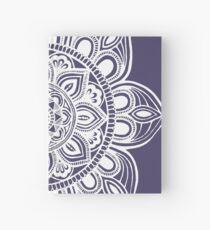White Mural Mandala - Art&Deco By Natasha Hardcover Journal