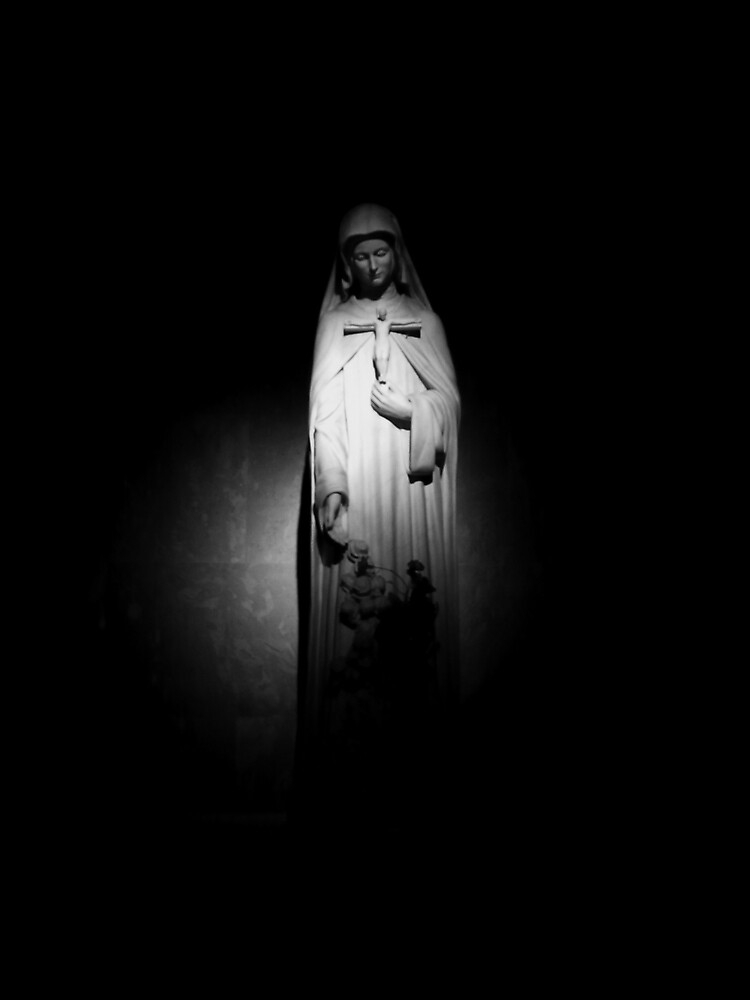 Mother Mary (Black & White) by dianaparaan