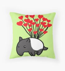 Tapir Love Throw Pillow
