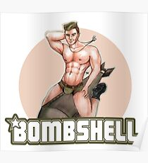 Bombshell Soldier Poster