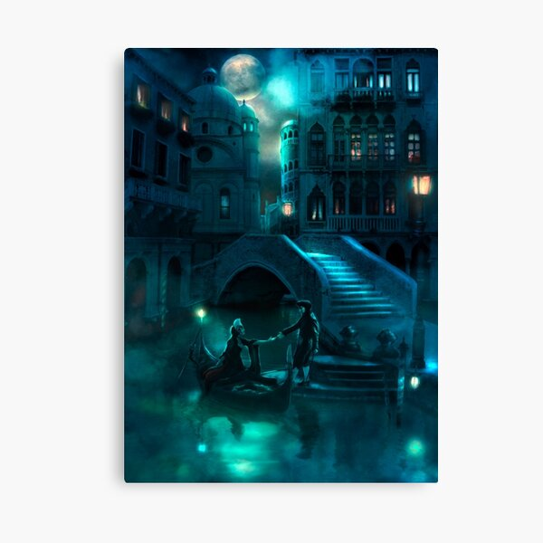 Venice Moon Canvas Print