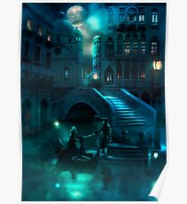 Venice Moon Poster