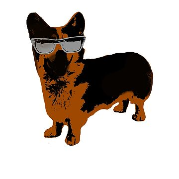 Cool Sunglasses Corgi by fenixdesign