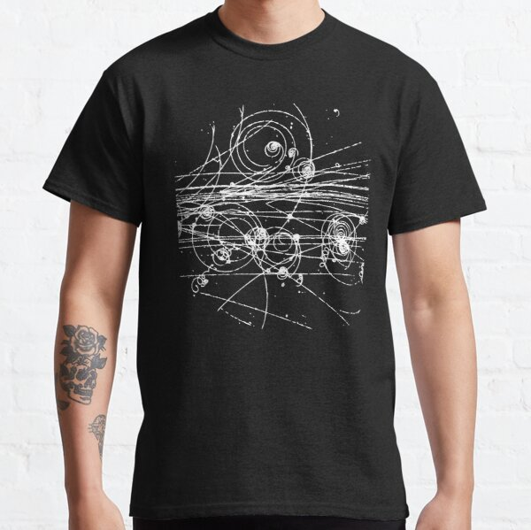 Bubble Chamber- Particle Tracks, Physics, Particle Physics Classic T-Shirt