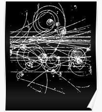 Blasenkammer - Teilchenspuren, Physik, Teilchenphysik Poster
