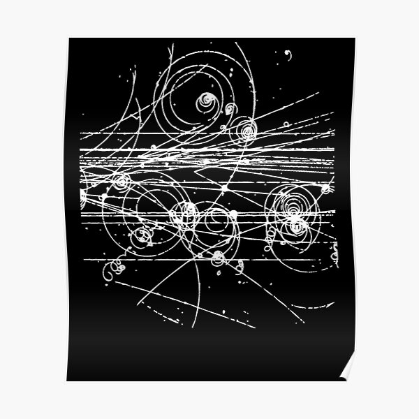 Bubble Chamber- Particle Tracks, Physics, Particle Physics Poster