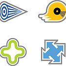 Jet Set Radio Stickers I: Beat, Gum, Tab and Mew by take-a-byte