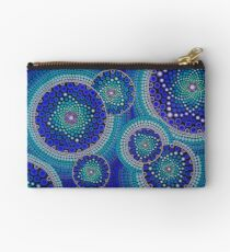 Blue Seeds Of Life Bubbles - Art&Deco By Natasha Studio Pouch