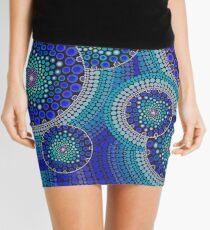 Blue Seeds Of Life Bubbles - Art&Deco By Natasha Mini Skirt