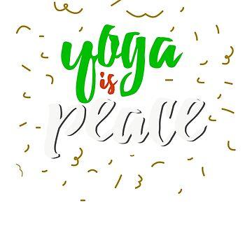 Yoga es paz by Arodi