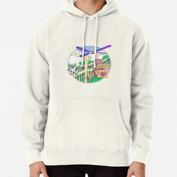Country rattan chair on a terrace Pullover Hoodie