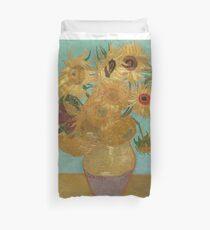 Vincent Willem van Gogh, 1889, Sonnenblumen / Vase mit zwölf Sonnenblumen, Öl auf Leinwand Artwork Bettbezug