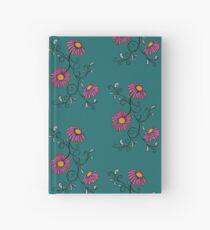 3 Flowers Drawing - Art&Deco By Natasha Hardcover Journal