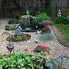 Backyard Garden by Linda Miller Gesualdo