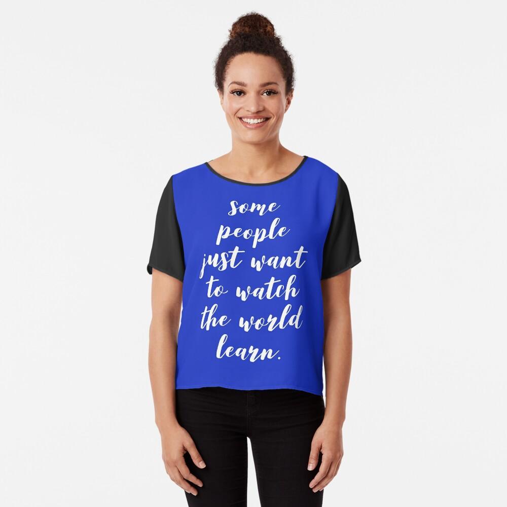44b891f8163 Witty Funny Teacher T-Shirt - Watch the World Learn