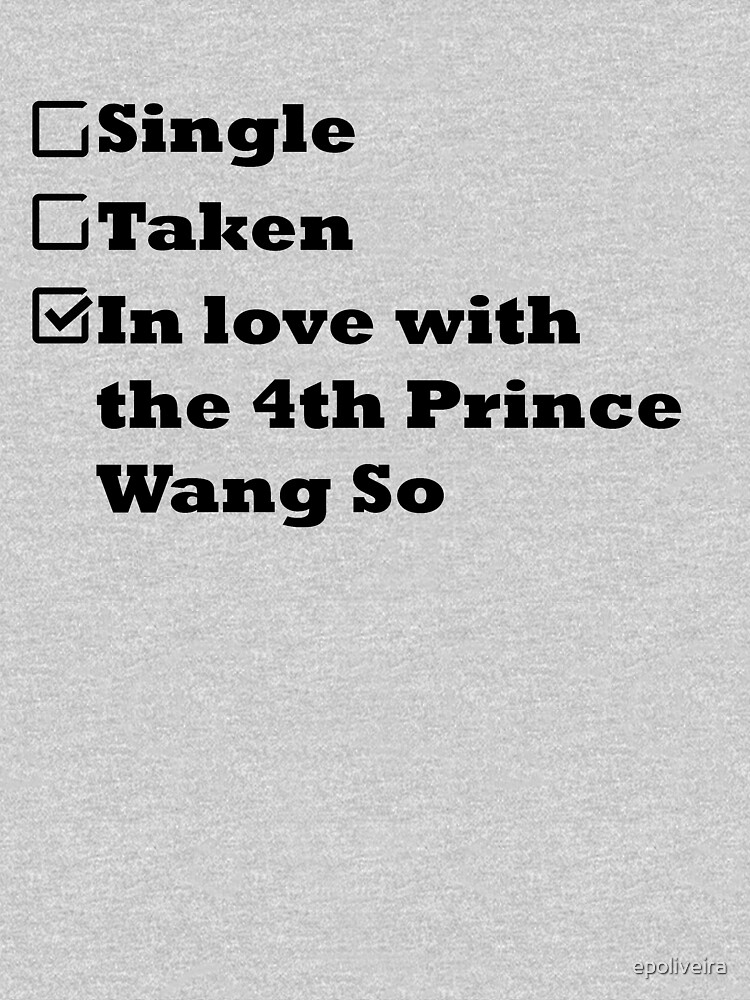 Single Taken In love with the 4th prince Wang So by epoliveira