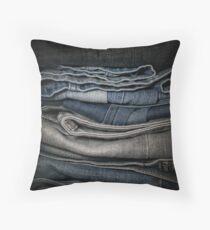 Faded Denim Throw Pillow