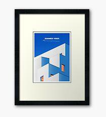 Greece illustration poster Framed Print