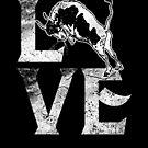 Bull Love Bulls Rodeo Cowboy Gift Spirit Animal  by roarr