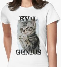 Evil Genius - The Cat Women's Fitted T-Shirt