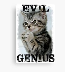 Evil Genius - The Cat Canvas Print