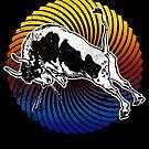 Bull Silhouette Bulls Farmer Bullfighter Gift  by roarr