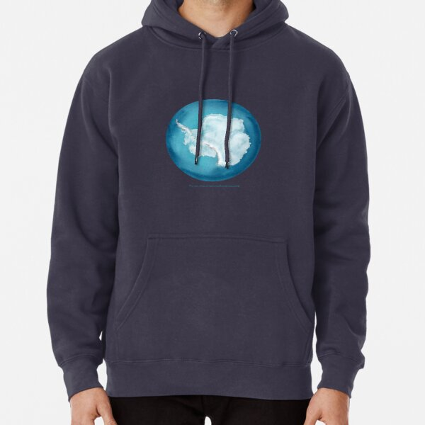 Antarctica, Earth from Space  Pullover Hoodie