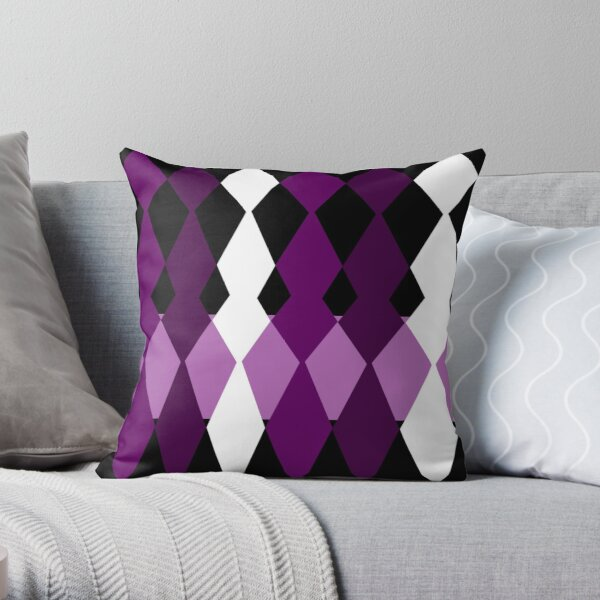 Purple Geometric  Throw Pillow