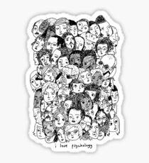 I Love Psyhology. Sticker