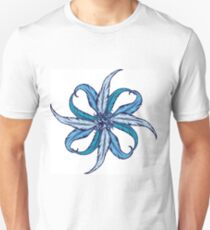 Blue Feather Flower T-Shirt