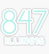 ILLINOIS 847 • ROBIN Sticker