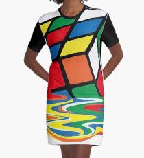 Rubik Cube Geschmolzenes T-Shirt, originelle Geschenkidee T-Shirt Kleid