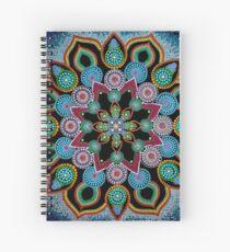Red Star Mandala - Art&Deco By Natasha Spiral Notebook