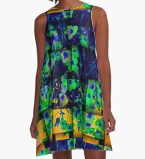 Floral design on weave pattern A-Line Dress