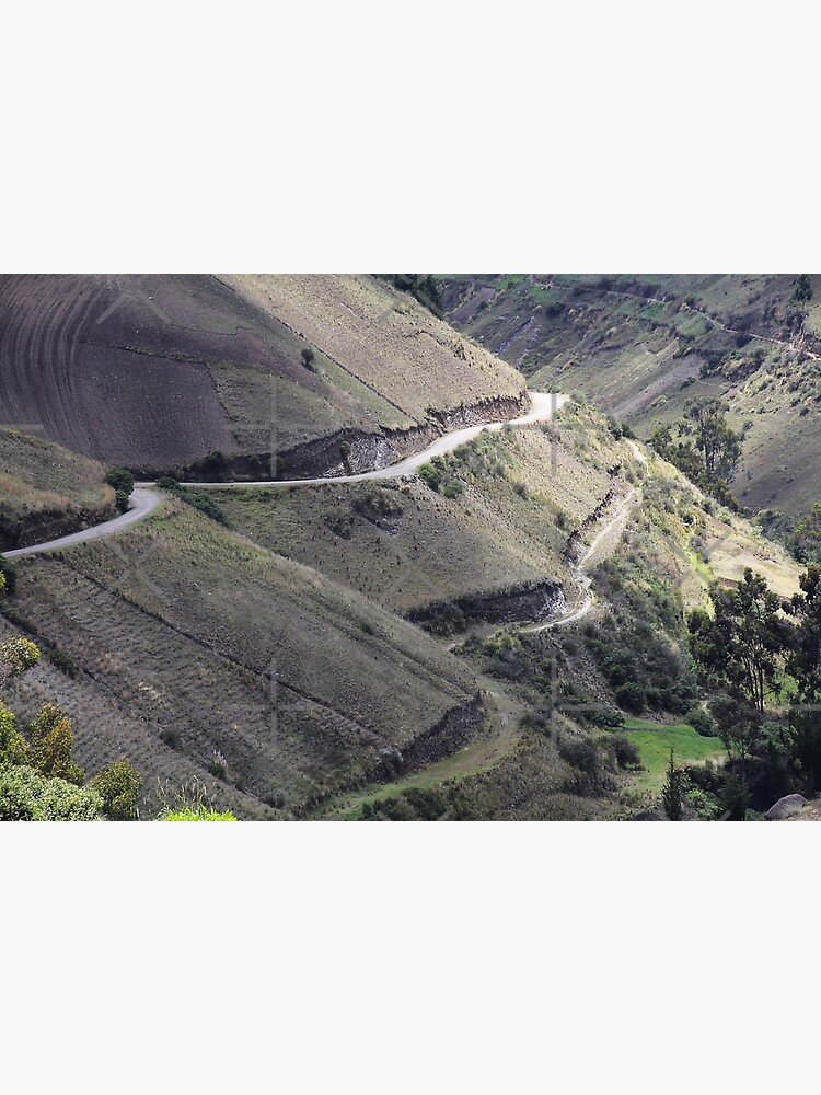 Roads carved into Ecuador rural hillside by kpander