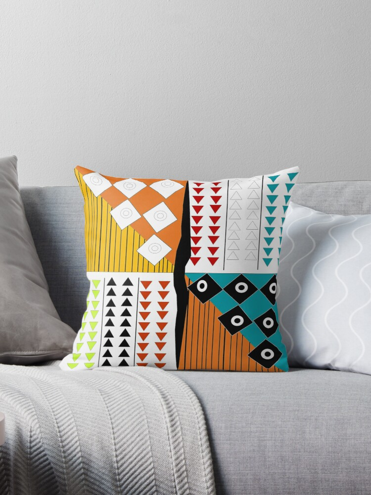 African Print Throw Pillows By Lifecycleprints Redbubble