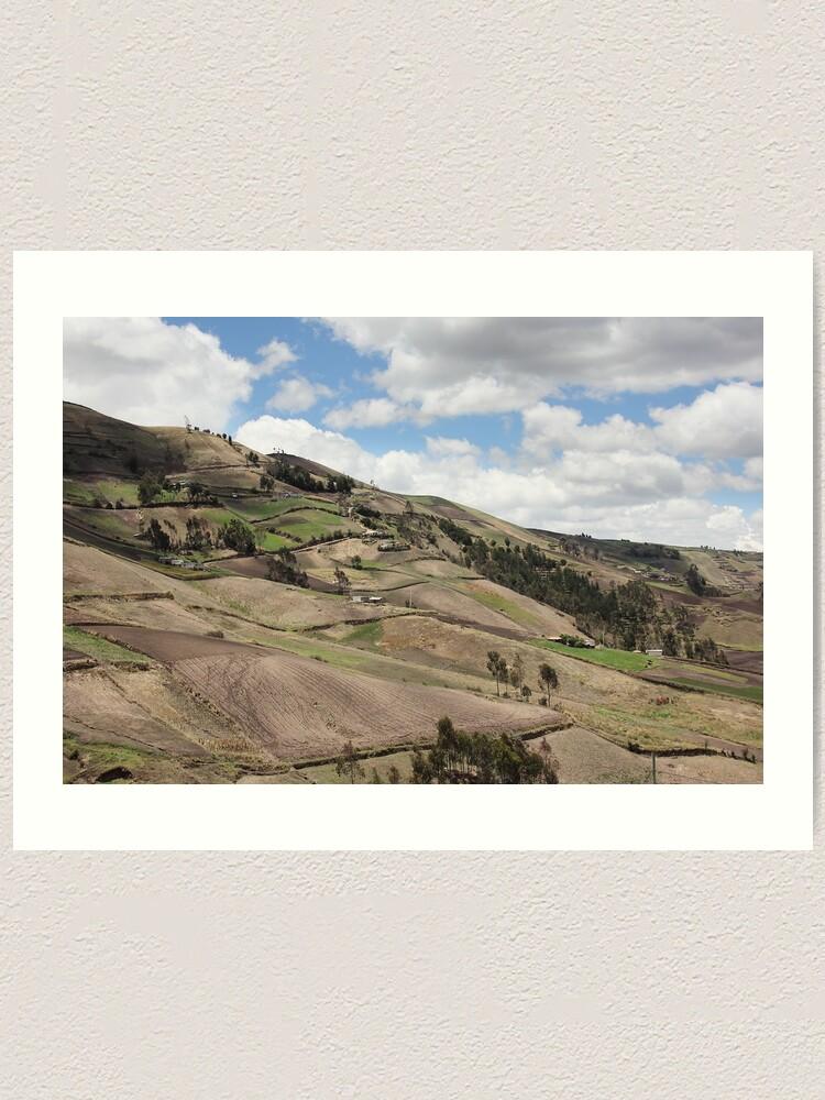 Alternate view of Rural farming hillside, Sablog, Ecuador Art Print
