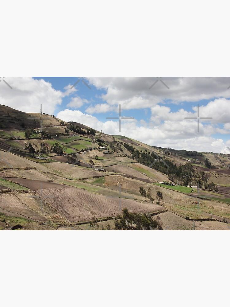 Rural farming hillside, Sablog, Ecuador by kpander