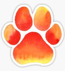 Orange Paw Print Sticker