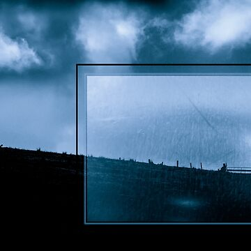 Blue Landscape with Urban Grunge by colinsart