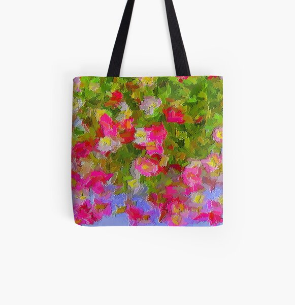 Beautiful Hanging Pink Floral All Over Print Tote Bag