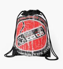 THE HARDER YOU PRESS THE BUTTONS - DISTRESSED RETRO GAMING DESIGN  Drawstring Bag