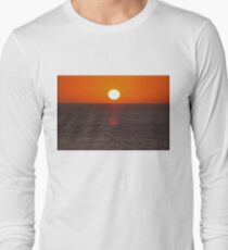 Carlsbad State Beach Sunset Long Sleeve T-Shirt