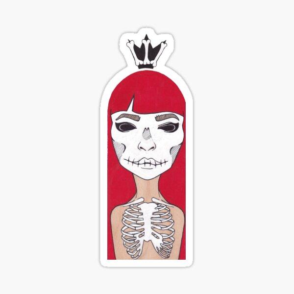 Skeleton Girl Sticker