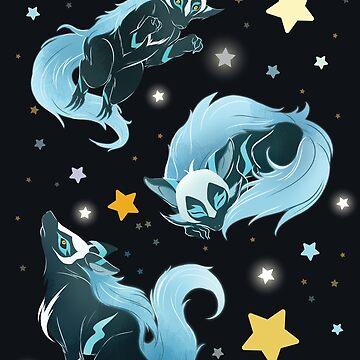 Cosmic Wolf by bloomejasmine