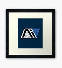 AI Crest Framed Print