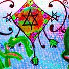 Star of David Confetti by hdettman