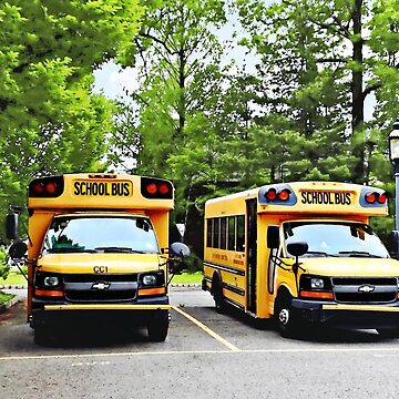 Two School Buses by SudaP0408
